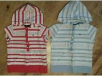 Tommy Hilfiger girls hooded tshirts age 3 yrs