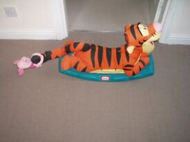 Little Tikes Disney Tigger Rocker with Piglet on his tail in VGC.