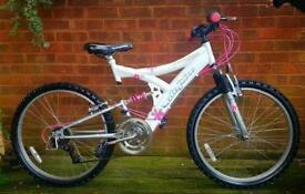 "Utopia Ice Maiden girls/ladies bike,24""wheels,15 speed,dual suspension"