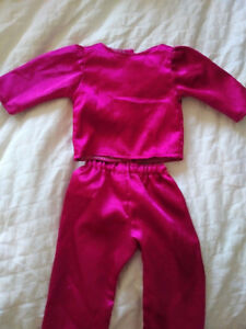pink silky pjs for american girl dolls
