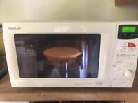 Sharp microwave oven with top and bottom grills
