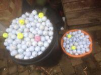 Various golf balls