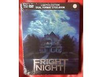Fright night blu-ray steelbook new & sealed oop