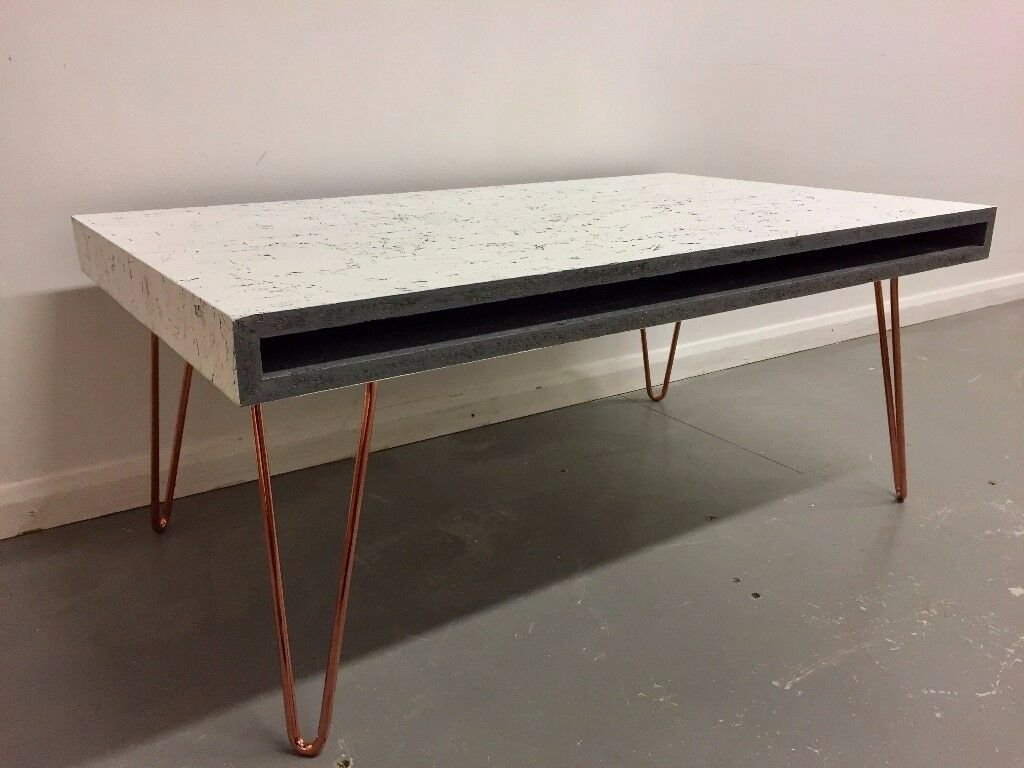 Industrial scandinavian style coffee table on vintage hairpin legs industrial scandinavian style coffee table on vintage hairpin legs geotapseo Image collections