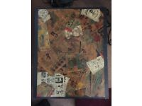 Lovely individual side table decoupage