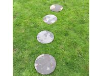 **sold pending collection tonight** 24 Round Slate Stepping Stones + Free Similar Stones