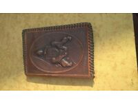 leather embossed wallet