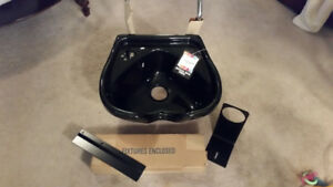 BRAND NEW--- Acrylic Hair Sink with Hardware and New chair