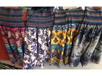 Colorful bohemian handmade dresses (one size)