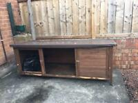 Large rabbit hutch with waterproof roof