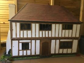 Hand made Georgian dolls house with lights