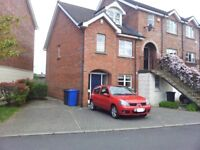 Room to rent in fully furnished 4 bedroom house. Ardenlee Green. Sharing with 3 other professionals