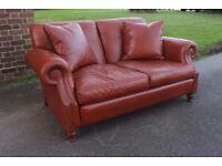 Designer JOHN SANKEY Tolstoy 2 seater brown leather sofa sprung baseRRP £4300
