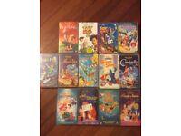 Collection of thirteen VHS Disney Films