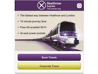 2X Heathrow Express tickets (return) valid till 5th Sep