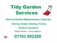 Gardening services in Selby and surrounding areas.