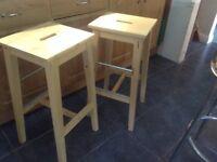 2 IKEA KITCHEN/BAR STOOLS