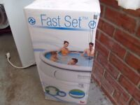 "BESTWAY FAST SET POOL 10"" BRAND NEW AND STILL BOXES WITH PUMP COVER"