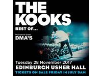 1 x seated ticket for the Kooks at Usher Hall 28/11/17