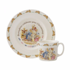 "Royal Doulton Bunnykins ""New Arrival"" 2 piece dish set"