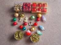 An assortment of Xmas tree baubles some old some new - all in mint condition