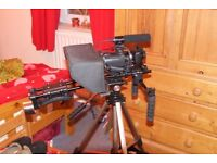 Sony camcorder HXR MC50 complete rig with follow focus field monitor
