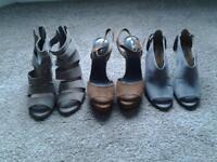 3 pairs of Next sandals
