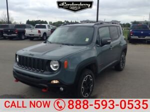 2015 Jeep Renegade 4WD TRAILHAWK Accident Free,  Navigation (GPS