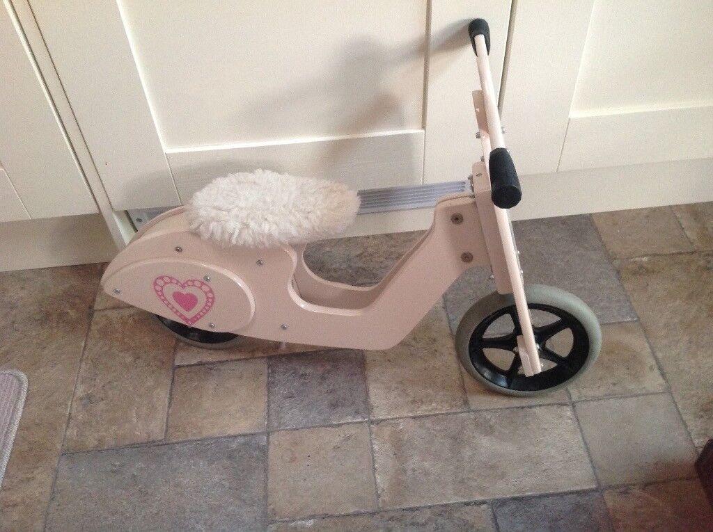 Girls Designer Skipper Pink Balance Bike Scooter Vintage Style