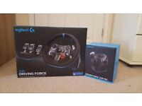Logitech G29 (941000113) Racing Wheel, Pedals and Manual Gear Shifter (PS4, PS3)