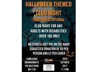 Disabilities Halloween clubbing night
