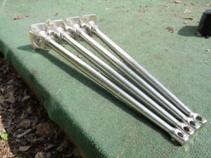4 stainless stanchions