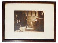 VINTAGE LITHOGRAPHIC BY P.H. CALDERON, ENTITLED RENUNCIATION