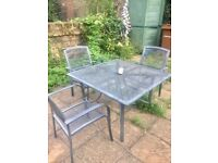 Outdoor garden table and chairs for sale