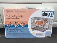 XXL Dog crate. Large breed dog cage, pet crate, Cat cage. Two door *never used*