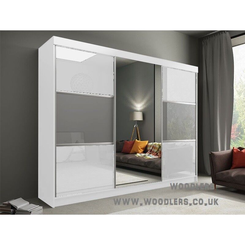 BRAND NEW HIGH GLOSS RUMA 2 OR 3 DOOR WARDROBE (SLIDING) MIRRORin Kingston, LondonGumtree - plz call us 07903198072Dimensions Height 216cm Depth 62cm Width 120 ,150,180, 203, 250cm Specifications 10 Shelves 2 Hanging Rail Flat Pack in Boxes Requires Self Assembly Colours Black, Dark Browm, Grey, Oak Sonoma, Walnut, White