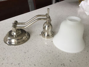 RH polished nickel bathroom wall sconce in great condition