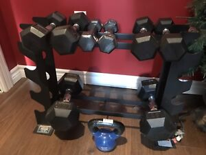 Rubber Hex Dumbbell Weights