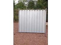 Steel boarding fences