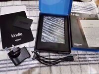brand new boxed kindle with charger unwanted gift wifi readable in sunlight touch screen charger