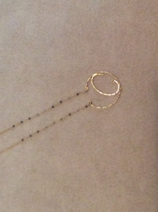 """Anthropologie """"C"""" initial necklace-brand new"""
