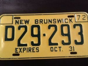 Antique licence plate- New Brunswick