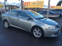 Toyota avensis T4 D4D diesel 2009 new model one owner 63000 fsh long mot ful leather mint car