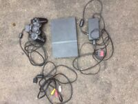 PS2 slim, controller and leads