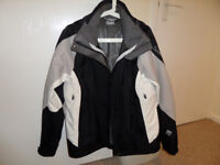 LADIES SALOMON WALKING/SKI/OUTDOOR JACKET 12/14 AS NEW BLACK/GREY/WHITE LIGHTWEIGHT MESH LINED