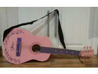 Child's pink Acoustic Guitar (31' inch) WITH STRAP