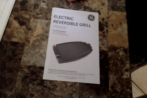 GE Electric Reversible Grill