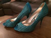 Dune emerald heels