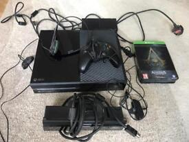 Xbox one day one edition with Kinnect and special edition assassins creed black sails game