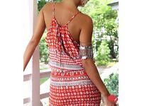 Red summer sexy dress